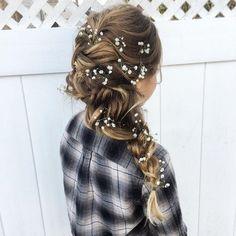 Boho braids - Cute hairstyles for long hair #hairstyle #hair #promhair #weddinghair #hairstyles