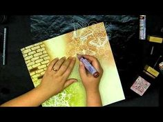 8 ways to play with The crafters workshop templates - Tutorial - YouTube - BEST Stamp, Stencil, Ink, Paste techniques