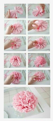 : Des Pivoines en papier ^^puffy paper flowers how to^^puffy paper flowers how to Handmade Flowers, Diy Flowers, Fabric Flowers, Wedding Flowers, Spring Flowers, Wall Flowers, Flower Quilts, Simple Flowers, Diy Paper