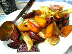 Dinner this week: Stacey Snacks: Fall Salad: Roasted Fennel & Beets