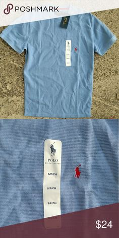 NWT Ralph Lauren tee. Small New with tags. Waffle knit tee. Size small Ralph Lauren Shirts Tees - Short Sleeve
