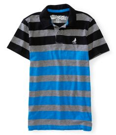 Aero Skate Striped Jersey Polo