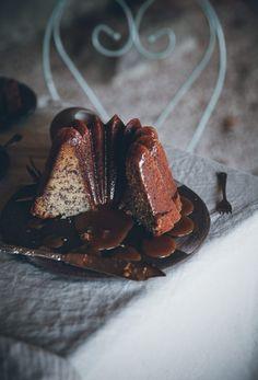 Banana Bundt Cake w/ Hot Butterscotch Sauce