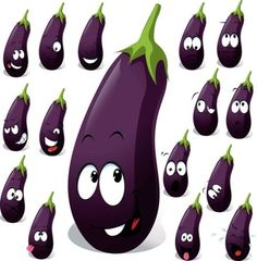 cartoon vegetables expression of 02 vector