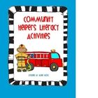Community Helpers Literacy Activities and Centers! Includes cards for matching games or pocketchart center, a printable emergent reader, many worksheets that...