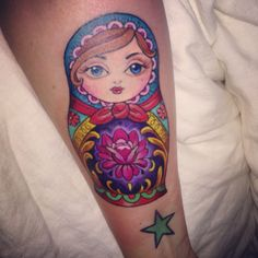 Russian Doll Tattoo by Kim Saigh!