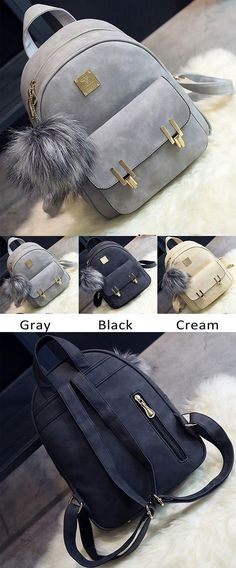 Fashion Frosted PU Zippered Bag