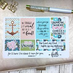 Christian Stickers, Planner Stickers, Scripture Stickers, Illustrated Faith, Happy Planner, Bible Journaling, Bible Verse Stickers by FaithPaperShop