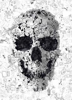 """Mit """"The Message"""" bekommen wir eine abwechslungsreiche Skulls Artwork-Serie vom türkischen Designer und Illustrator Ali Gulec präsentiert."""