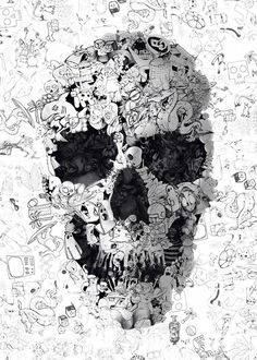 Creative_Skulls_Imagined_From_Different_Techniques_by_Turkish_Artist_Ali_Gulec_2015_03