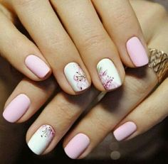 Having short nails is extremely practical. The problem is so many nail art and manicure designs that you'll find online Stylish Nails, Trendy Nails, Cute Nails, Hair And Nails, My Nails, Nagellack Design, Short Nails Art, Manicure E Pedicure, Nail Spa