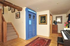 After Middlesex home hit the headlines when photographs revealed semi-detached property's interior was entirely purple, here are a selection of other strange and unique houses up for sale Purple Home, Doctor Who Bedroom, Design Your Home, House Design, Tardis Door, Gothic Living Rooms, Fantasy House, Bedroom Themes, Bedroom Ideas