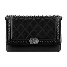 df87e2c3d8c2 Boy CHANEL wallet on chain ❤ liked on Polyvore featuring bags, wallets,  leather chain bag, genuine leather wallet, leather wallets, chanel and 100  leather ...