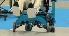 Scientists from the Chiba Tech institute of technology have built a robotic wheelchair which can climb steps and overcome various other obstacles.