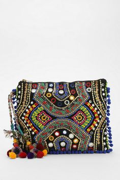 Ecote Beaded Mirror Clutch from Urban Outfitters