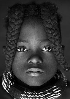 Himba girl, Epupa, Namibia. By Eric Lafforgue.