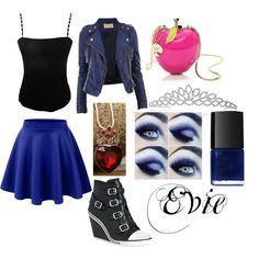 Evie from descendents by danisinnott on Polyvore featuring polyvore fashion style Jean Muir Ash Bling Jewelry Once Upon a Time NARS Cosmetics Kate Spade