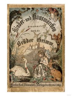 Cover of Brothers' Grimm Tales from a German Edition Published in Berlin, 1865 Poster £14.99 #swans