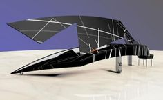 The Pegasus Piano was designed by Colani originally and the one you can see here is a new design by Daniel Libeskind. It almost looks unbelievable.