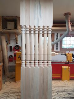 7 porch posts. Wood, Porch Posts, Home, Candles, Taper Candle, Magnetic Knife Strip, Knife Block, Porch