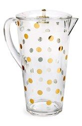 kate spade new york 'raise a glass' acrylic pitcher