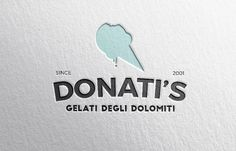 custom premade logo  ice cream shop gelato gelateria by futska