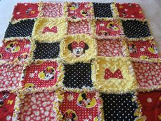 Minnie Mouse Baby Girl Rag Quilt Blanket 36x36 picclick.com
