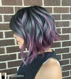 Image result for ombre hair silver to lavender