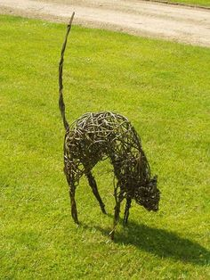 arched cat willow sculpture