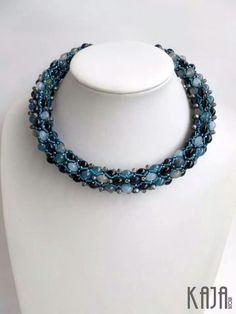 Necklace by Karolína Emingrová Beadwork, Beading, Beaded Jewelry, Beaded Necklace, Spirals, Ropes, My Love, Bracelets, Jewerly