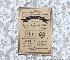 Black DIY Reception Only Invitation | ahandcraftedwedding #wedding #printables