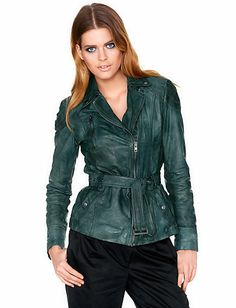 ASHLEY BROOKE - Leather jacket in our Fashion Shop at heine.co.uk Grey Leather Jacket, Red Leather, Ashley Brooke, Elegant, Girls, Jackets, Shopping, Fashion, Classy