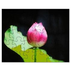 Pink Lotus Flower Puzzle on CafePress.com