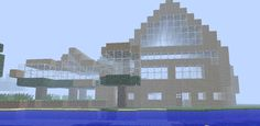Back of the big house in Minecraft