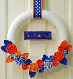 Florida Gators Wreath by daffadowndillies on Etsy, $40.00