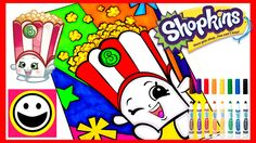 SHOPKINS Coloring Pages - POPPY CORN - Crayola Coloring Book - Color Wit...