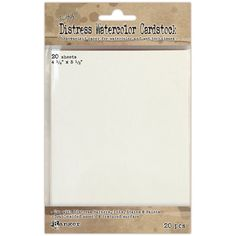 Amazon.com: Ranger Distress Watercolor Cardstock, 4.25 by 5.5-Inch, 20-Pack
