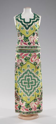 Evening dress Emilio Pucci (Italian, Florence 1914–1992) Date: ca. 1966 Culture: Italian Medium: silk, rhinestones