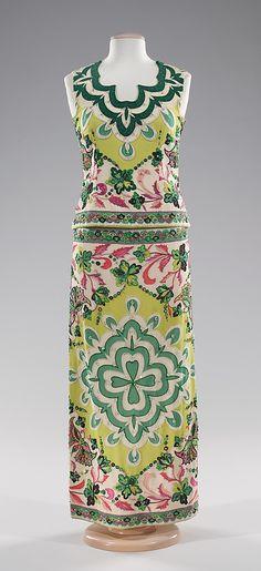Evening dress Emilio Pucci (Italian, Florence 1914–1992) Date: ca. 1966 Culture: Italian Medium: silk, rhinestones
