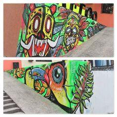 "56 Me gusta, 1 comentarios - KPO (@kpo.bta) en Instagram: ""Intervención fachada tribu TATTOO house / neiva / la pexera CREW ! #kpo #bogota #colombia🇨🇴…"""