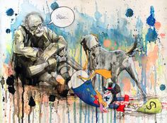 Ilustradora russa radicada no Reino unido, Lora Bananca, aborda temas sociais…