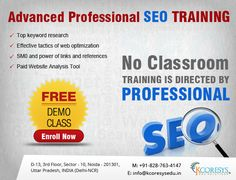 Search Engine Optimization is definitely the need of the hour. There is a lot of demand for SEO executives. SEO training as emerged as one of the hottest course of the day. SEO is a complex terminology and it demands a professional training. Opt for the best SEO Live training in Delhi by choosing the SEO course offered by Kcorseys. For SEO training Contact Today.