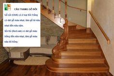 Cầu thang gỗ sồi tự nhiên - Cầu thang gỗ