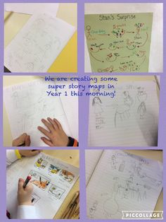 Year 1 use story mapping to gather their ideas together for their stories.