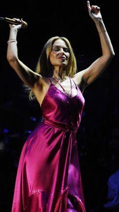 """ No denying she is beautiful "" Kylie Minigue, Dannii Minogue, Blond, Rocker Girl, Famous Women, Sexy Hot Girls, Satin Dresses, Beautiful Outfits, Dress To Impress"
