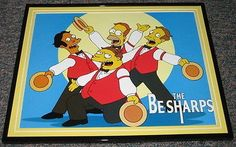 2007 The Simpsons Be Sharps Framed 10x13 Poster Photo @ niftywarehouse.com