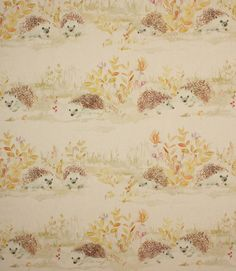Mr and Mrs Hedgehog fabric <3 http://www.justfabrics.co.uk/curtain-fabric-upholstery/linen-mr-and-mrs-hedgehog-fabric/