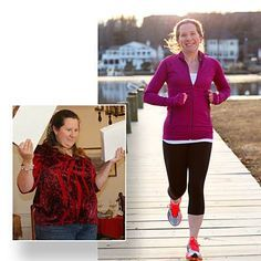 Stephanie Cyr   Age: 35 From: Woodbridge, Virginia  Before: 221 lb., size 14-16 Now: 119 lb., size 2-4  Pounds lost: 102  How she did it: Scrolling through old Facebook photos and seeing how much weight she'd gained inspired Stephanie to begin walking for an hour every night. Then, she added a Jillian Michaels DVD and began using the elliptical in her basement. She also tracked her calorie intake with the MyFitnessPal app.