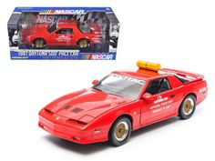 1987 Pontiac Firebird Trans Am GTA Daytona 500 Pace Car Nascar 1/18 Diecast Model Car by Greenlight - Brand new 1:18 scale diecast model of 1987 Pontiac Firebird Trans Am GTA Daytona 500 Pace Car Nascar die cast model car by Greenlight. Brand new box. Rubber tires. Has steerable wheels. Made of diecast metal. Detailed exterior. Has opening hood, doors and trunk. Dimensions approximately L-10.5, W-4, H-3.5 inches.-Weight: 4. Height: 8. Width: 15. Box Weight: 4. Box Width: 15. Box Height: 8…