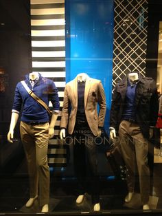 Banana Republic windows 2013 January by Mark James visual merchandising